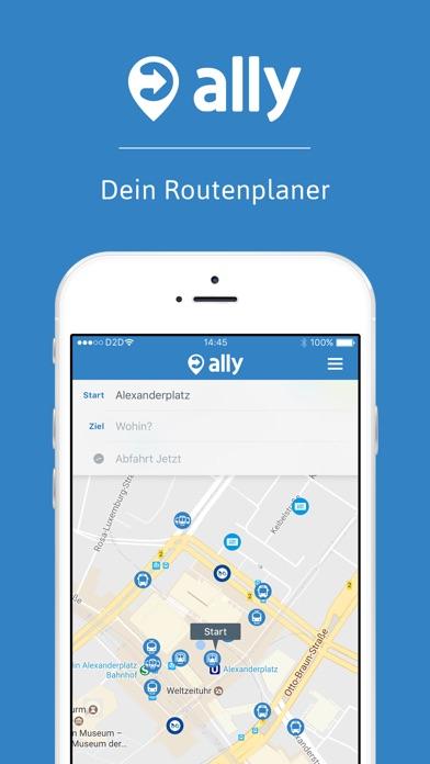 ally mobility app - Routenplaner für Deine Stadt Screenshot
