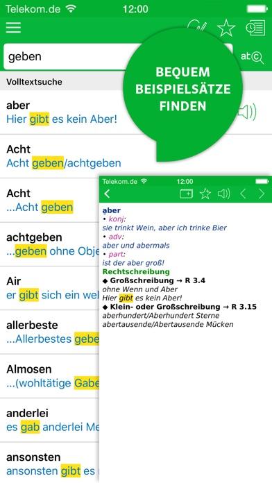 Wörterbuch Deutsche Rechtschreibung von PONS Screenshot