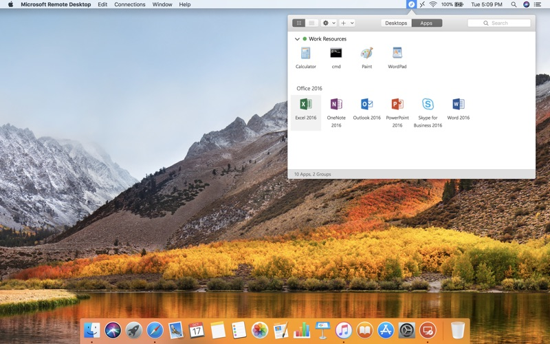 Microsoft Remote Desktop Screenshot