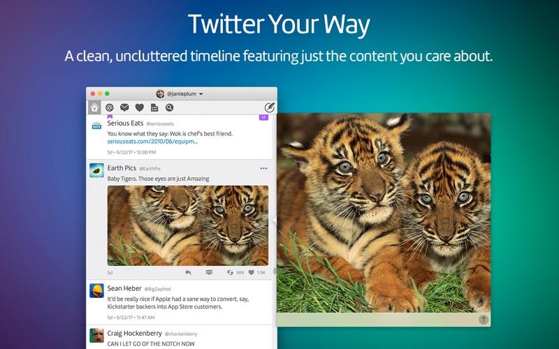 Screenshot do app Twitterrific 5 for Twitter