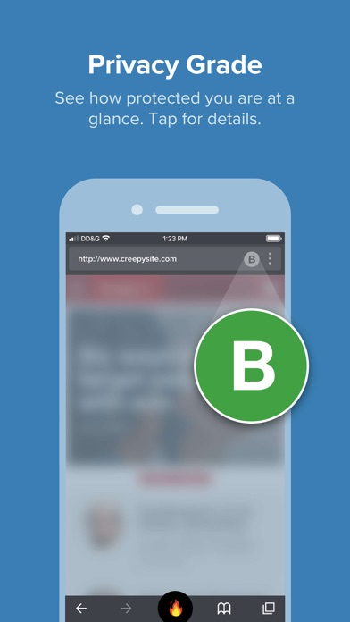 Screenshot do app DuckDuckGo Privacy Browser