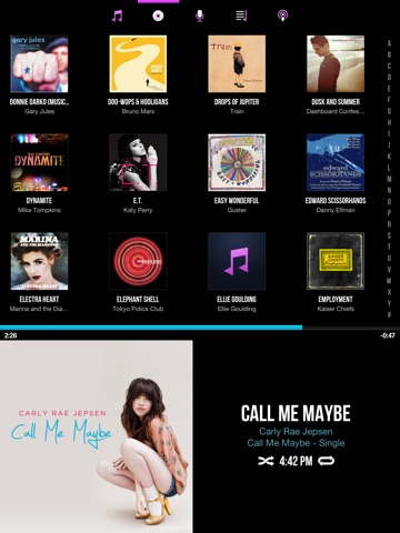 CarTunes Music Player Screenshot