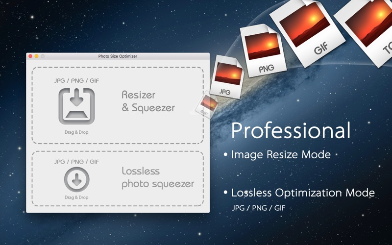 Photo Size Optimizer Screenshot