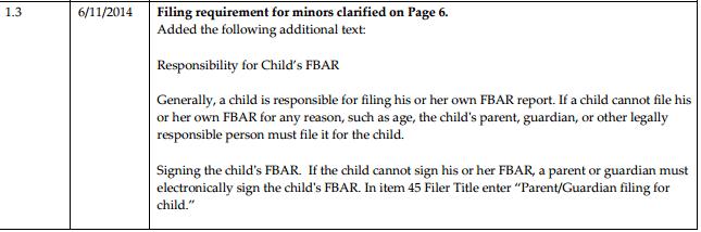 child fbar