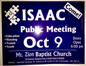 2014 ISAAC Yard Sign