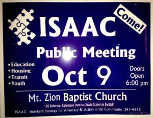 2014 ISAAC Yard Sign