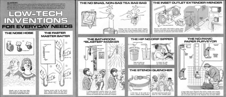 Just a few of Jaffee's mad inventions