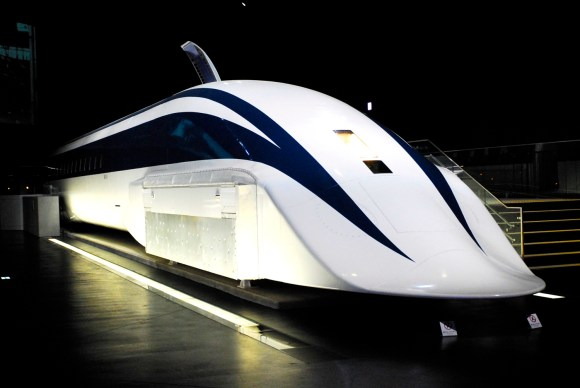 An aerodynamic Japanese MagLev train