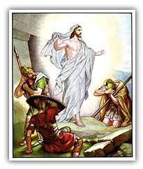 Resurrection of Isa al Masih. Illustration copyrighted.