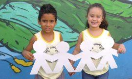 Crianças beneficiadas da Jornada Solidária