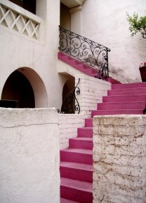 13.pink stairs