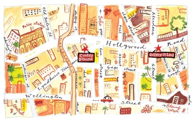 Hong Kong Central Map