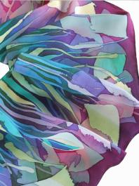 Synthetic dyes on georgette silk