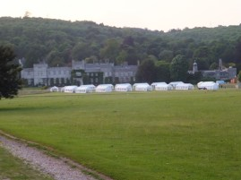 Tents for Fusion in evening light