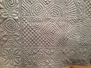 Antique Welsh quilt, detail