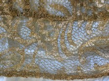 Detail of gold lace jacket