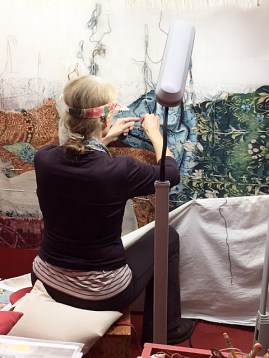 Visit to Stirling Castle on DHA tour to see the last of the Unicorn tapestry series being woven