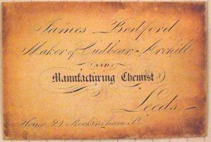 Pre 1842 visiting card