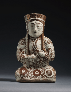 Seated Female Ruller, Kashan, Sotheby's