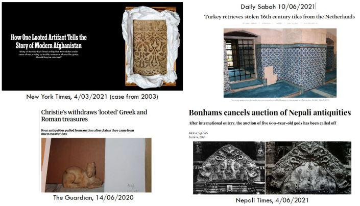 recent cases of stolen art sale