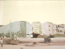 """""""Abeille"""" acrylique sur toile, 2011, 39x31"""