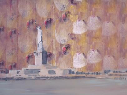 """""""Andouille"""" acrylique sur toile, 2011, 41x31cm"""