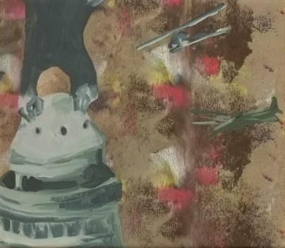 """""""Cantine"""" 2013,acrylique sur toile, 27x23cm"""