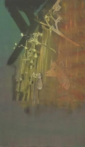 """""""Carrelage"""" acrylique sur toile, 107x63cm, 2013"""