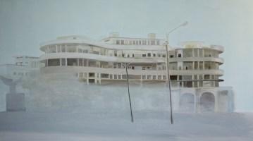 """""""The grand Hotel"""" acrylique sur toile, 2010, 150x70cm*"""