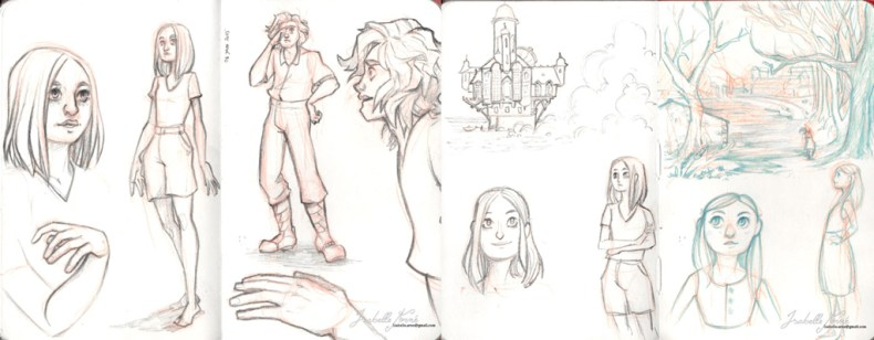 RAdiant story early sketch