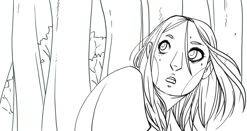 Creating a panel of comic : Radiant inking