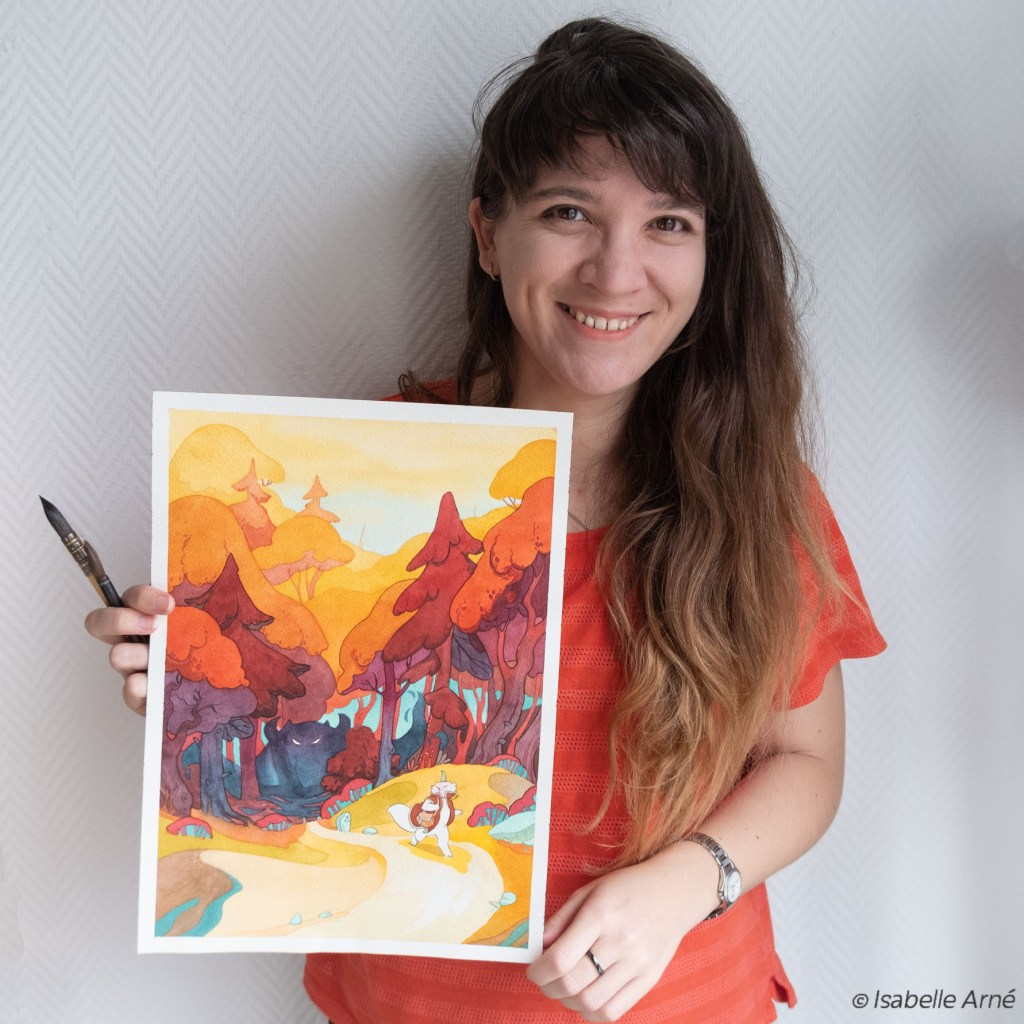 Isabelle Arne illustration magic cute colorful childbook art