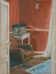"""oil on canvas """"l'aquarium"""""""