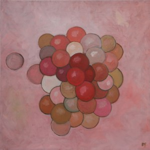 "oil on canvas ""étude rose"""