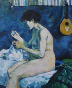 """oil on canvas """"une copie de Gauguin"""""""