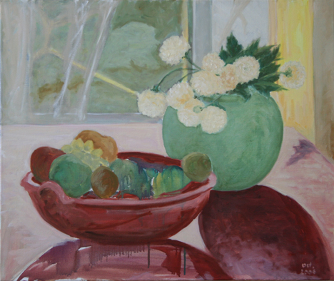 """oil on canvas """"le bouquet de dalhias"""""""