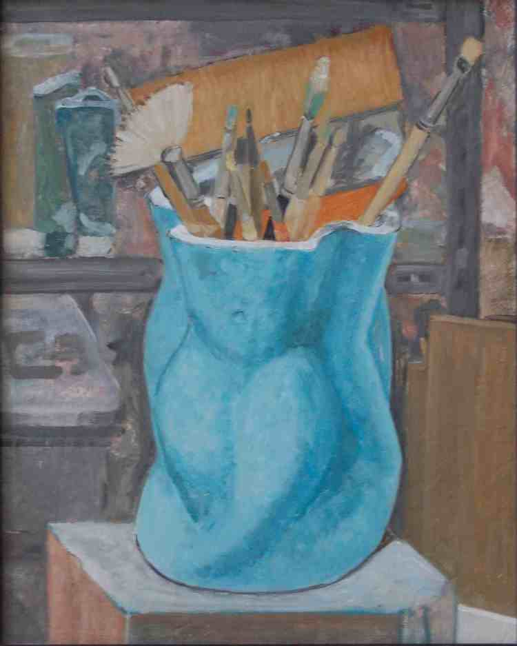 "oil on canvas ""dans l'atelier"""