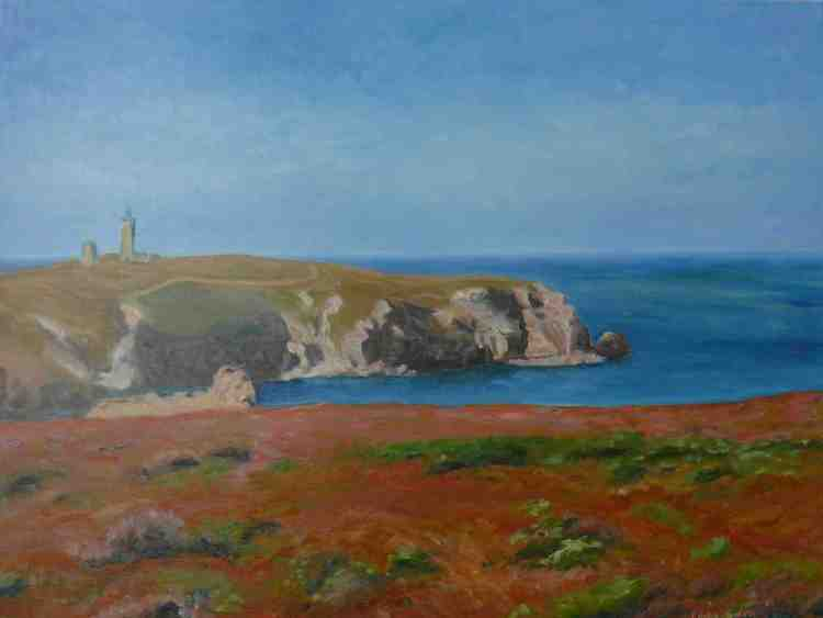 """oil on canvas """"la lande et le cap"""""""