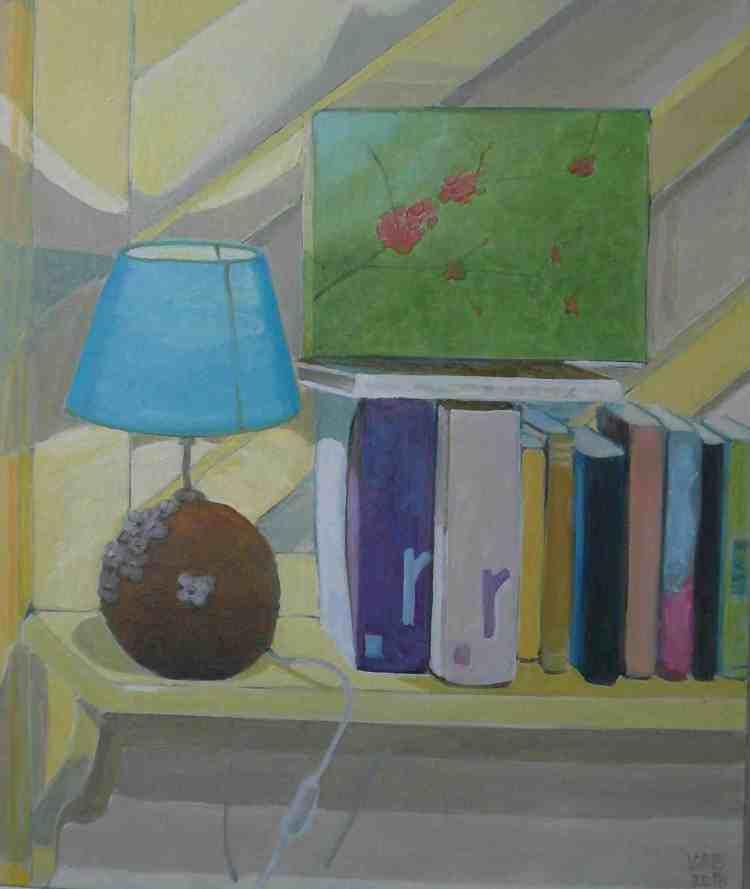 """oil on canvas """"le chevet bleu"""""""