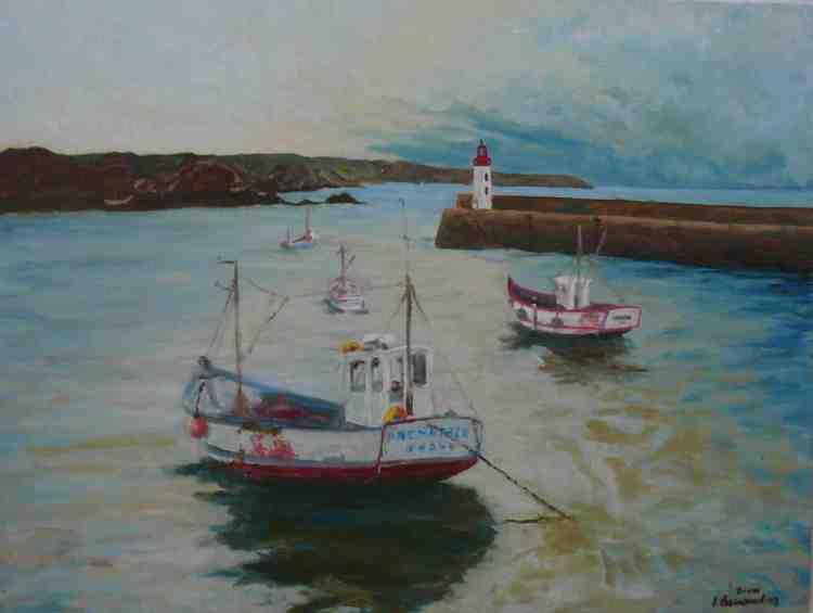 """oil on canvas """"le port d'Erquy"""""""