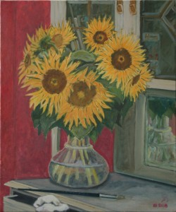 "oil on canvas ""les tournesols"""