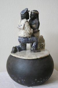 Boite souvenirs pour couple en raku