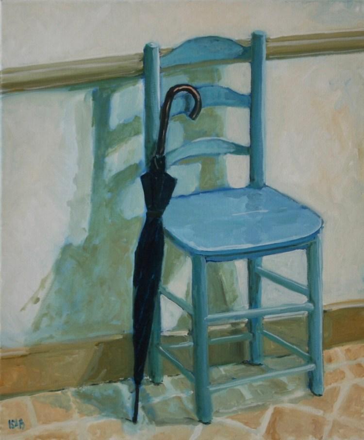 la chaise bleue