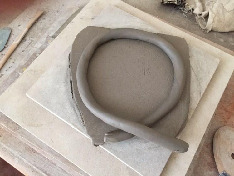 fabrication d'un pot en colombin