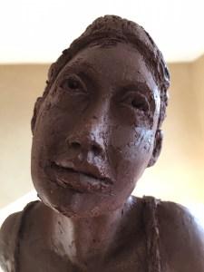 premier modelage réalisé à Vaugines, haut Luberon, Provence