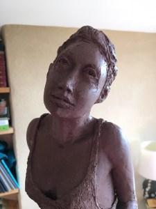 première sculpture réalisée à Vaugines, Provence