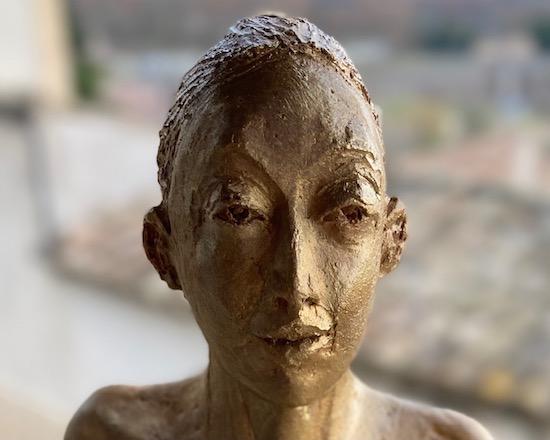 sculpture argile, envie d'or
