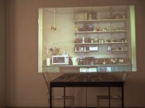 Installation with Video, Table, chairs, Magazines and Speaker (2012)