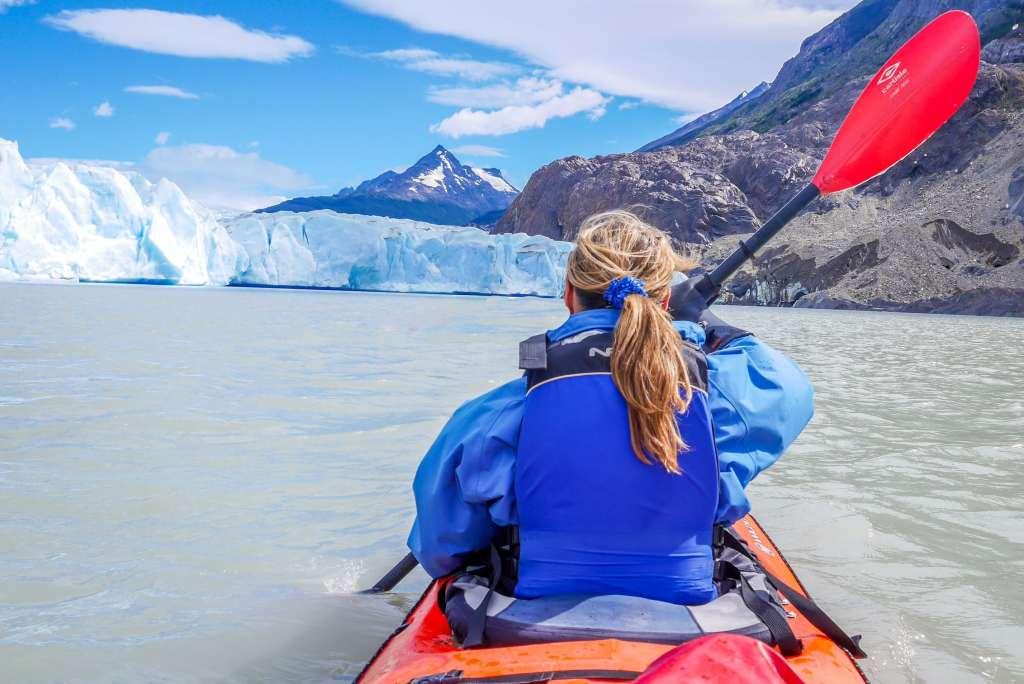 circuit w el chalten patagonie kayak glacier grey