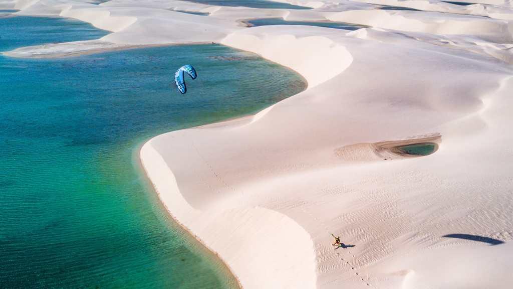 kitesurf lencois brésil